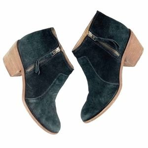 Madewell Janice Black Suede Leather Boots